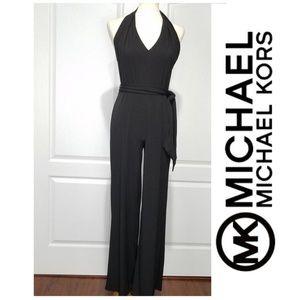 Michael Kors Jersey Black Sleeveless Junpsuit sz S